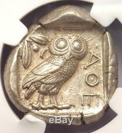 Tétradrachme Athéna Grecque Athènes Grèce Antique (440-404 Av. J.-c.) Ngc Choice Xf