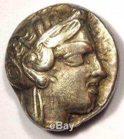 Tétradrachme Athéna Grecque Athènes Grèce Antique (454-404 Av. J.-c.) Très Bien (vf)