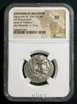 Tétradrachme D'argent D'alexandre III Le Grand, 336-323 Av. J.-c. Ngc Xf 0066