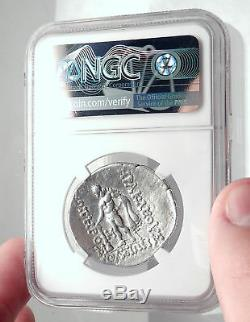 Thasos Thrace Grecque Authentique 148bc Argent Antique Tetradrachm Monnaie Ngc I72601