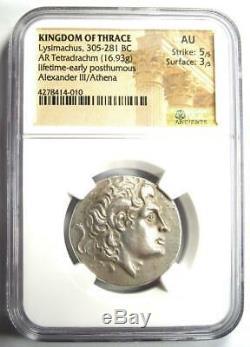 Thrace Alexandre Le Grand Lysimaque Ar Tetradrachm 305 Bc Coin Ngc Au