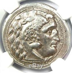 Thrace Alexandre Le Grand Lysimaque Ar Tetradrachm 305 Bc Monnaie Ngc Xf Choix