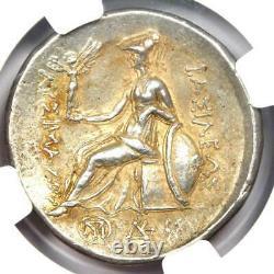 Thrace Lysimachus Alexander Ar Tetradrahm Pièce 305-281 Av. J.-c. Certifié Ngc Xf
