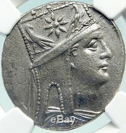 Tigrane II Arménie Ancien Roi 83bc Argent Grec Tétradrachme Monnaie Ngc I84770