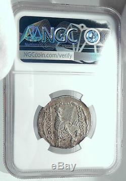 Tigranes II 80bc Authentique Ancienne Pièce De Monnaie Grecque En Argent Arménien Arménie Ngc Ch. Xf