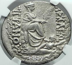 Tigranes II 80bc Authentique Pièce De Monnaie Grecque En Argent Arménien Antique Arménie Ngc Au