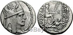 Tigranes II Le Grand Roi D'arménie Pièce De Monnaie Grecque En Argent 70bc Tétradrachme