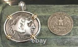 Treasure Coin Pendentif Authentique Grec Antique Alexandre Le Grand Artefact