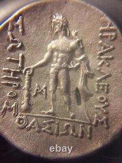 Véritable Grec Ancien Tetradachme-thasos Island (foure)102 Bce/argent